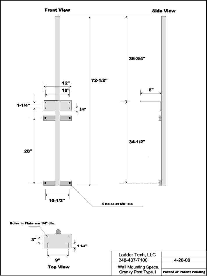 Portable Winch Specifications Cranky Roof Flat Wall