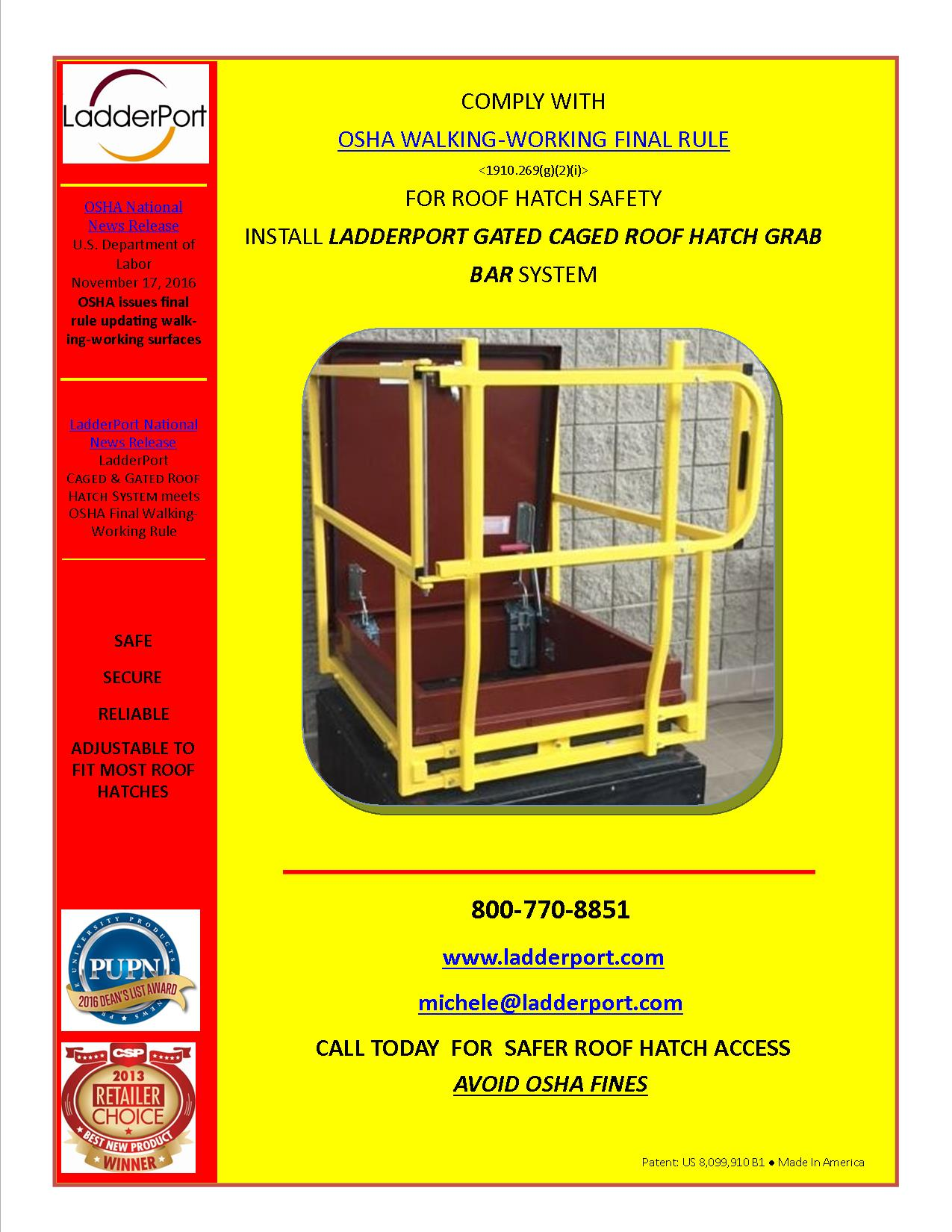 Ladderport Safety Equipment Ladder Stabilizer